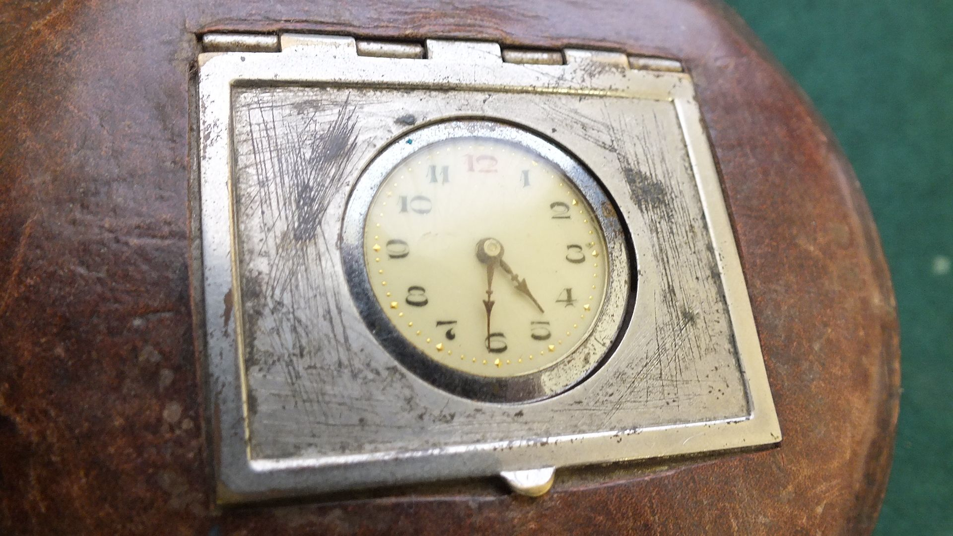 Ladies Compact Leather Zip cased Watch RARE and beautiful
